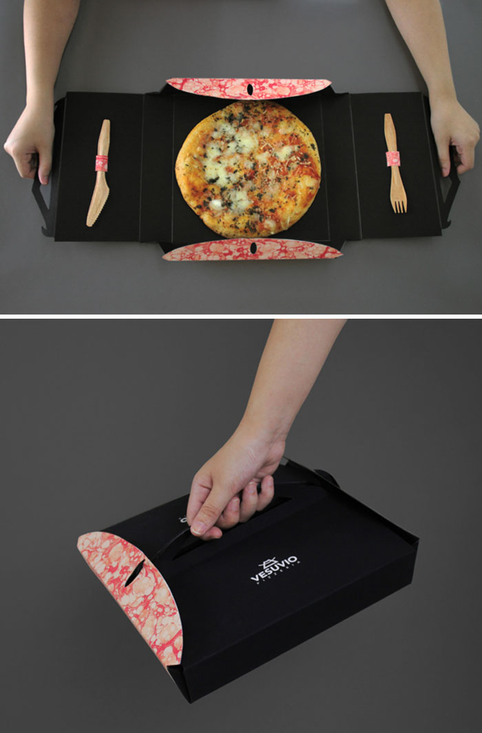 91. Упаковка пиццы Везувий