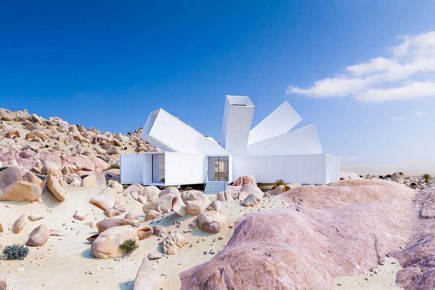 Потрясающий дом из морских контейнеров