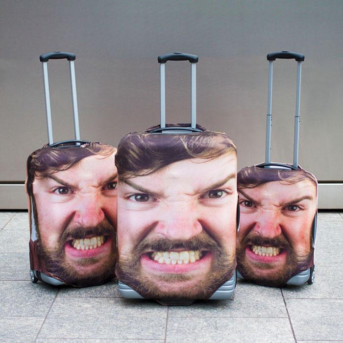 Пошив чехлов с индивидуальным рисунком для дорожных чемоданов