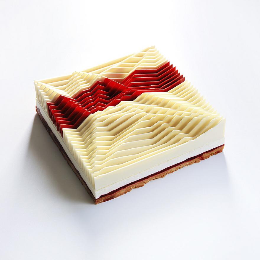 Геометрически правильные пирожные и десерты