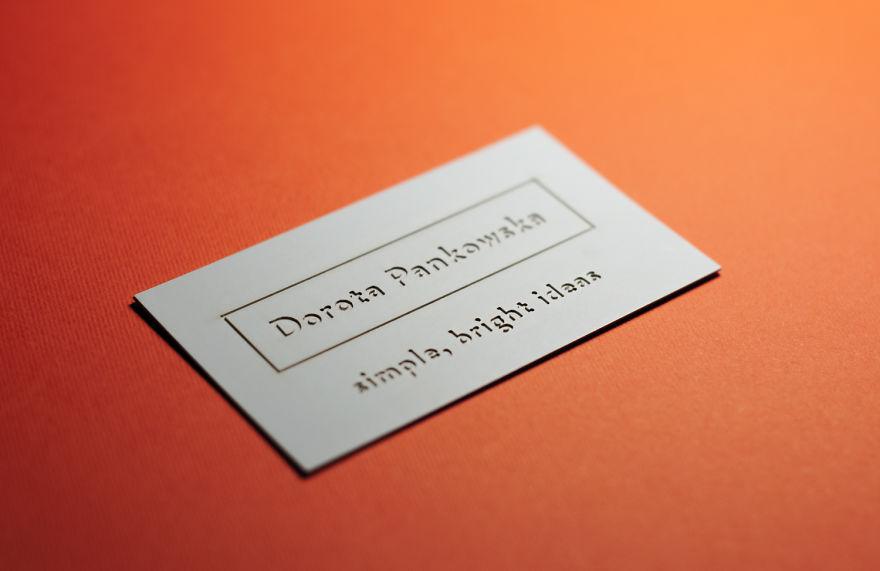 Визитная карточка творческого человека