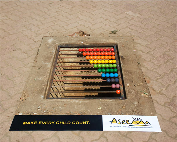Крутая и креативная эмбиентная реклама