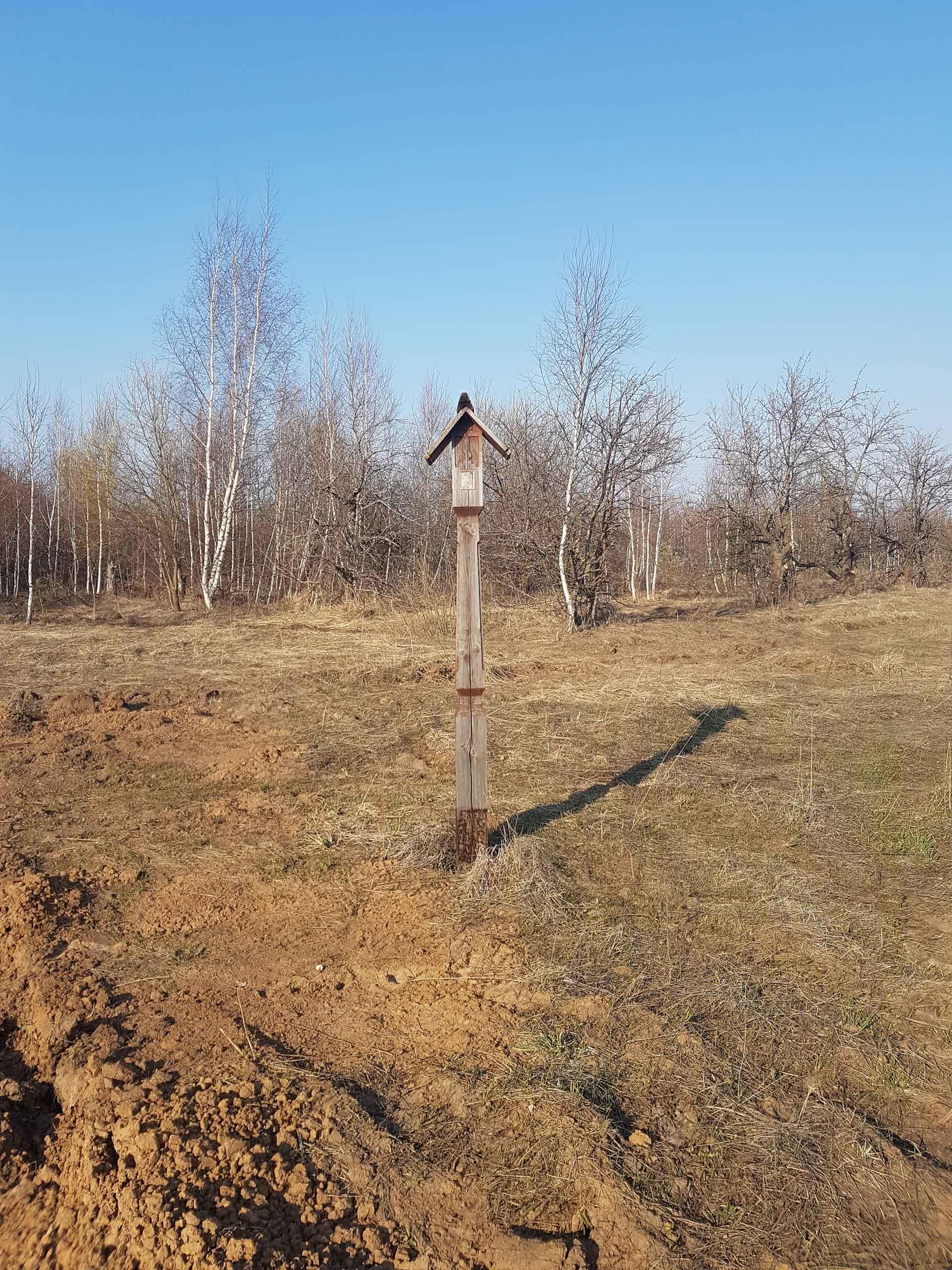 Рязанская область. Несколько деревянных часовенных столбов можно встретить на пути к Иоанно-Богословскому монастырю